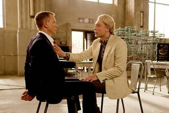 Daniel Craig (left) and Javier Bardem star in Skyfall.