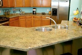 Overlay countertop from ABC Studios.