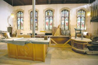 St.Matthews Anglican Church is being renovated to allow for 26 apartments inside.