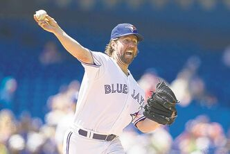 'It's still pretty inconsistent. I'm still walking more guys than I hope to, which is causing my pitch counts to be higher'.  � Blue Jays pitcher R.A. Dickey, above