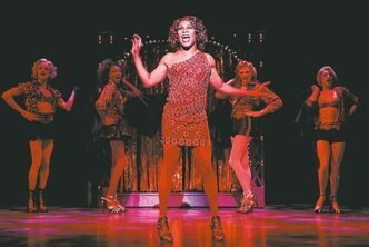 Billy Porter during a performance of Kinky Boots, the Cyndi Lauper-scored musical that won multiple Tony awards Sunday.