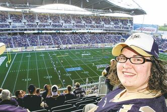 Bomber fan Felise Coutu has warm  feelings for the old stadium -- she took her engagement photos there -- but says the comforts of Investors Group Field have won her over.