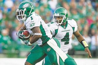 The Roughriders offence is led by quarterback Darian Durant and running back Kory Sheets. Saskatchewan is hosting the 2013 Grey Cup and has stocked up on veterans    in hopes of reaching the title game.