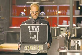 Host Alton Brown, as seen on Food Network�s Cutthroat Kitchen, Season 1. (The Canadian Press/Supplied photo)
