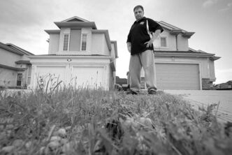 Winnipegger Richard Hykawy has been charged by the city for not cutting the grass on city property that runs adjacent to his home.