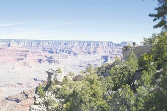 At the Grand Canyon, visitors can peer over the edge into the abyss of the valley below.
