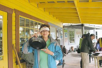 Alexandra Paul spent a fun-filled day panning for gold.