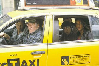 Judd Hirsch drives a cab in Sharknado 2.
