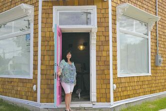 Nicole Zadorozny is looking forward to greeting customers at a former corner store in Winnipeg Beach. Zadorozny and her partner, Ron Prokopetz, will soon open their Candies & Curiosities shop.