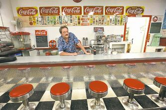Richard 'Thirsty' Copet runs Thirsty's Flea Market and its retro lunch counter.