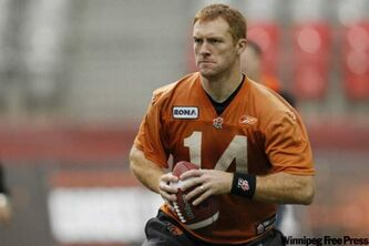 BC Lions' Travis Lulay gets set to throw during practice in Vancouver on Saturday. He thinks his teammates with Grey Cup experience will help him focus during the game against the Blue Bombers on Sunday.