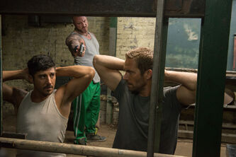 How are we going to jump our way out of this? Parkour specialist David Belle, left, and Paul Walker can't save film with D-level plot.