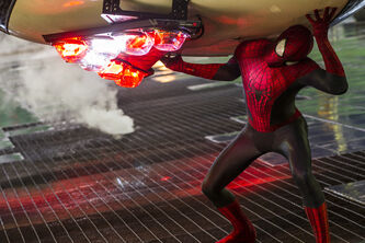 """Andrew Garfield stars as Spider-Man in Columbia Pictures' """"The Amazing Spider-Man 2,"""" also starring Emma Stone."""