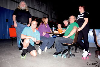 Members of the Winnipeg Roller Rink Skaters enjoy another evening at Wheelies on March 9.