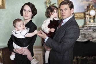 Michelle Dockery as Lady Mary and Allen Leech as Branson in Downton Abbey. Fans are rejoicing as the soapy saga about life on a British estate returns Sunday for its fourth season.