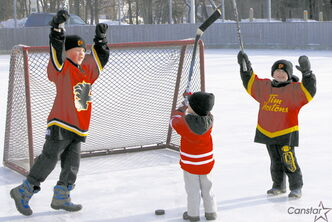 The Munday brothers practice for the Phoenix Winter Carnival in February.