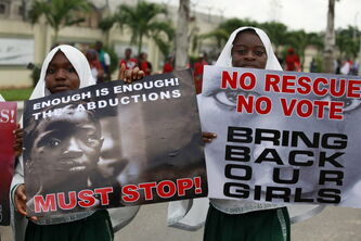 Muslim girls call on the government to rescue kidnapped girls in Nigeria.