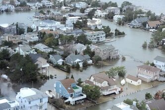 Large swaths of the eastern seaboard were under water for days in the aftermath of Hurricane Sandy.