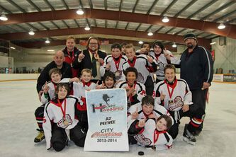 The Red River Panthers, 12A2 peewee division city champions.