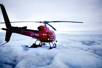 Investigating ice melt in Greenland.