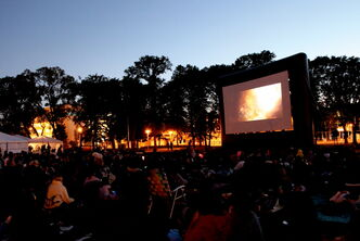 July 31 -- The Downtown Winnipeg BIZ set up a big screen for movies at last year's ManyFest. (SUPPLIED PHOTO) METRO