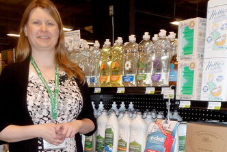 Westwood VitaHealth Fresh Market Manager Kelly Robertson suggests chemical-free cleaners and products made with post-consumer waste are easy ways to be more earth-friendly.
