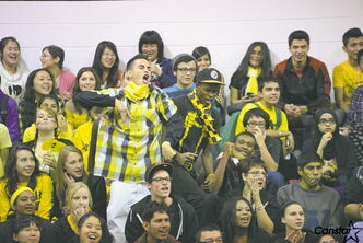 FRC students show their school spirit at a pep rally for Finding Undeniable.
