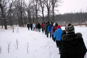 The Prairie Pathfinders Walking Club recently took in the beauty of the Royalwood community and the Bois-des-Espirits.