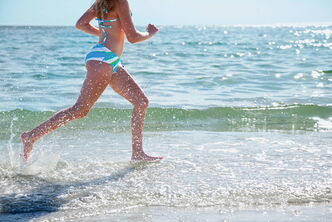 Sprinting is a good workout as it is, but take it to the beach and run through the sand to take things to a new level.