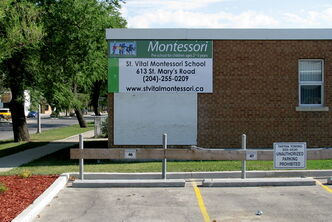 St. Vital Montessori School has returned to its original location at 613 St. Mary's Road, within the St. Mary's Road United Church.