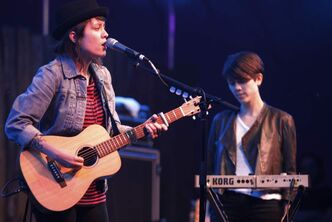 Tegan and Sara performed at the Folk Fest at Birds Hill Park in 2011.