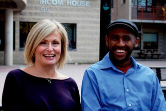 Muuxi Adam (right) was one of Anne Mahon's interview subjects for her book, The Lucky Ones.
