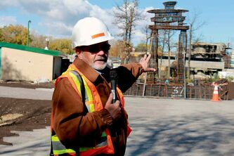 Don Peterkin, chief operating officer of the Assiniboine Park zoo, gave the media a tour of the Journey to Churchill exhibit, which is currently under construction.