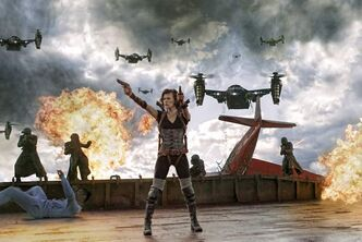 Milla Jovovich stars in Screen Gems' action horror Resident Evil: Resurrection.