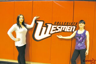From left to right: Wesmen dance team director Jenn Jonasson and dance team co-director Allie Di Curzio.
