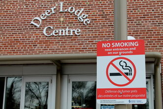 A city bylaw has prompted Deer Lodge smokers to cross Lodge, where residents say their butts are making a disgusting mess.