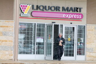 Paul Winslow gave the new Liquor Mart Express a whirl last Wednesday.