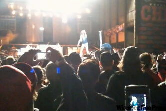 Steven Tyler falls off of the stage in a recent concert in Sturgis, S.D.