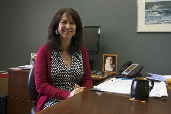Alzheimer Society of Manitoba CEO Wendy Schettler is shown at her office.