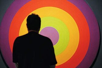 The Winnipeg Art Gallery is packed this rainy Victoria Day weekend as art lovers took the opportunity to visit the recently opened gallery titled, 100 Masters: Only in Canada.  A visitor to the gallery listens to an audio tour while looking at Claude Tousignant's Gong 80, 1966.  The show includes the works of major paintings by Rembrandt van Rijn, Giovanni Paolo Panini, Claude Monet, Pierre-August Renoir, Vincent van Gogh, Pablo Picasso, Henri Matisse, Andy Warhol and many more. It will be open until Aug. 18.