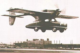 ConvAirCar flew for more than an hour over the city of San Diego in 1947.
