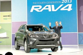 Toyota has launched 11 new or completely redesigned models in the U.S. in the last year, including the 2013 RAV4.