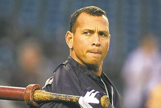 "FILE - In this Wednesday, Oct. 17, 2012 file photo, New York Yankees' Alex Rodriguez takes batting practice before Game 4 of the American League championship series against the Detroit Tigers, in Detroit. Major League Baseball says it is ""extremely disappointed"" about a new report that says records from an anti-aging clinic in the Miami area link Rodriguez and other players to the purchase of performance-enhancing drugs. (AP Photo/Carlos Osorio, File)"