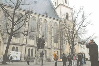 St. Thomas Church, a major tourist destination in  Leipzig, which is known for a rich musical heritage that has experienced a revival in recent decades.