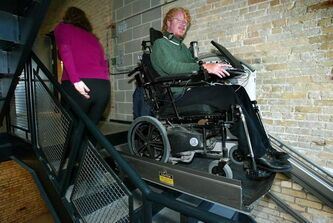Wheelchair elevators such as this one at Red River College will now be subject to permits and regular inspections.