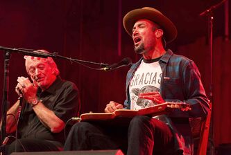 Friday night headliners Ben Harper and Charlie Musselwhite delight Folk Fest crowds.