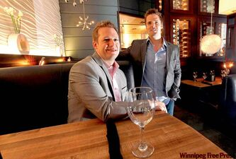 Former Moxie's servers Jason Wagenaar (left) and Kris Edwards expect their company to hit $1 million in annual sales this year.
