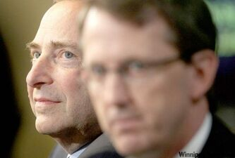 Winnipeg Jets co-owner Mark Chipman says commissioner Gary Bettman (left) was 'very responsible for the NHL's return to Winnipeg.'