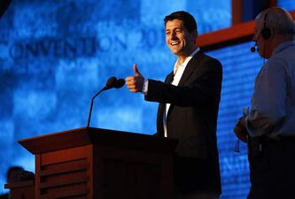 Vice-presidential nominee Paul Ryan at the 2012 Republican National Convention in the Tampa Bay Times Forum last week.
