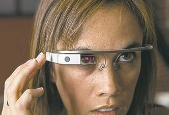 The screen of Google Glass projects information and could have the ability to read faces.